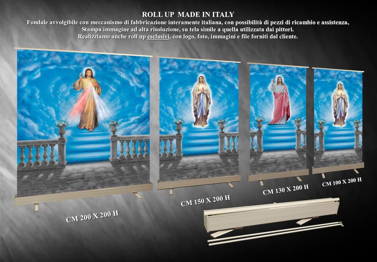 DIEMME Facelli arredi funebri Roll up Made in Italy fondali paraventi religiosi