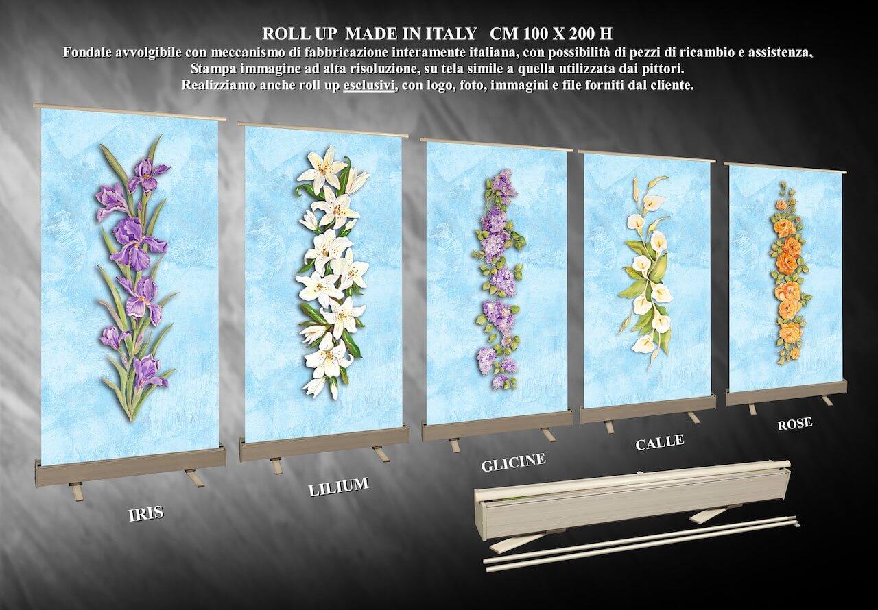 DIEMME Facelli arredi funebri Roll up Made in Italy fondali paraventi fiori