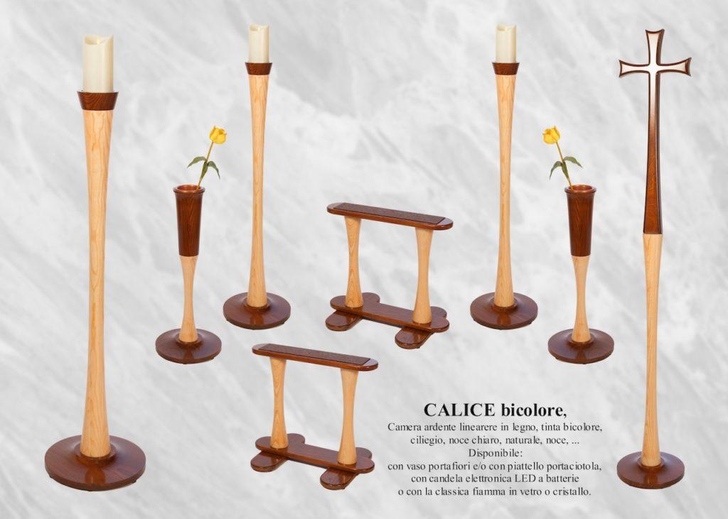 arredi funebri Camera ardente legno Calice frassino bicolore | DIEMME - Facelli