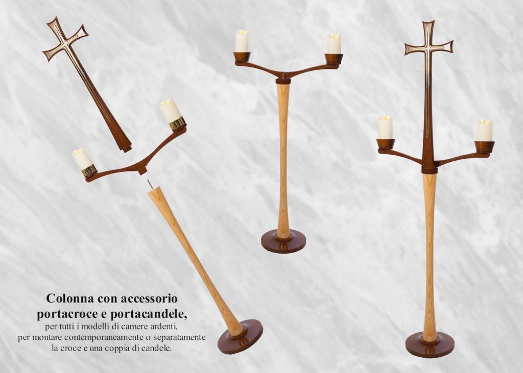 arredi funebri Camera ardente legno Calice frassino bicolore - DIEMME   Facelli